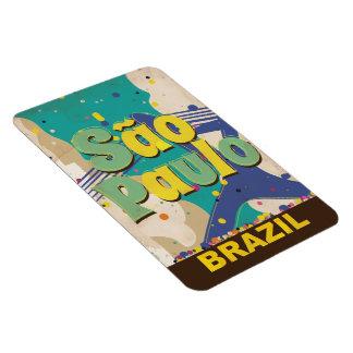 São Paulo Brazil Vintage Travel Poster Magnet