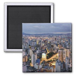 Sao Paulo Cityscape 2 2 Inch Square Magnet