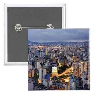 Sao Paulo Cityscape 2 Pinback Button