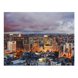 Sao Paulo Cityscape Post Card