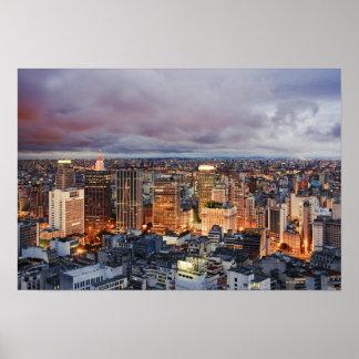 Sao Paulo Cityscape Poster