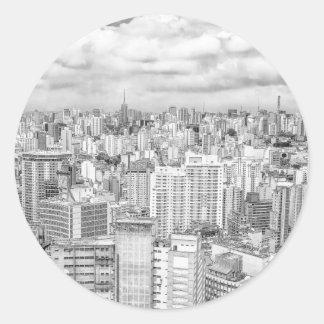 Sao Paulo, el Brasil Pegatina Redonda