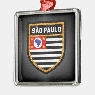São Paulo Flag Metal Ornament