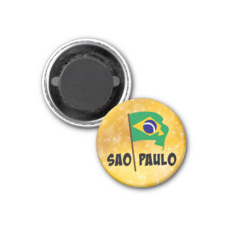Sao Paulo, Flag of Brazil Magnet