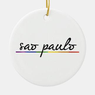 SAO PAULO GAY PRIDE -.png Christmas Ornaments