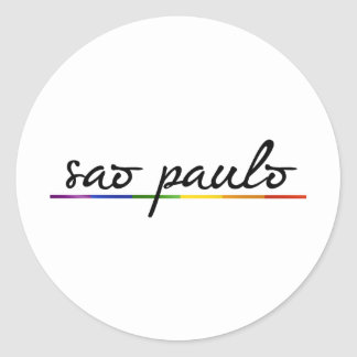 SAO PAULO GAY PRIDE -.png Classic Round Sticker