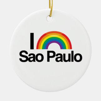 SAO PAULO - I LOVE PRIDE.png Christmas Ornaments