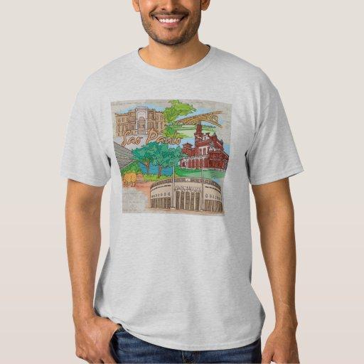 sao paulo landmarks tshirt