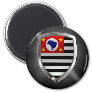 São Paulo Mettalic Emblem Magnet