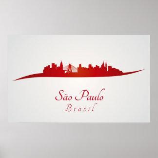 Sao Paulo skyline in network Poster