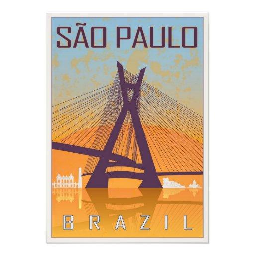Sao Paulo vintage poster Arte Fotografico