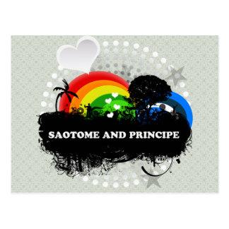 Sao Tome and Principe con sabor a fruta lindo Postal