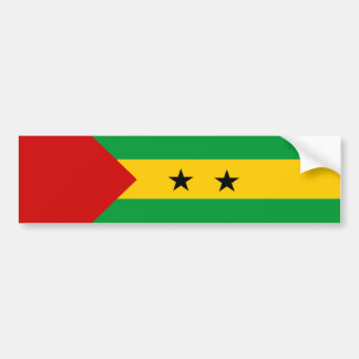 sao tome and principe country flag nation symbol bumper sticker