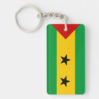 sao tome and principe country flag nation symbol keychain