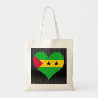 Sao+Tome+and+Principe flag colored Tote Bag