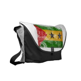 Sao Tome and Principe Flag Messenger Bags