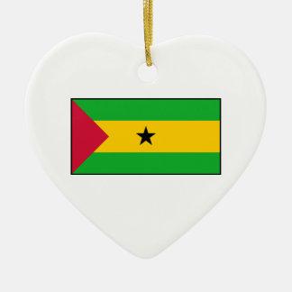 Sao Tome and Principe Flag Christmas Ornaments