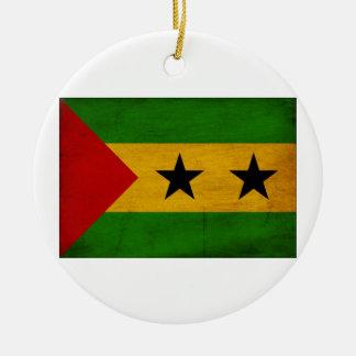 Sao Tome and Principe Flag Christmas Ornament