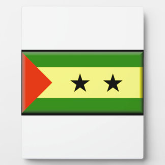 Sao Tome and Principe Flag Photo Plaque