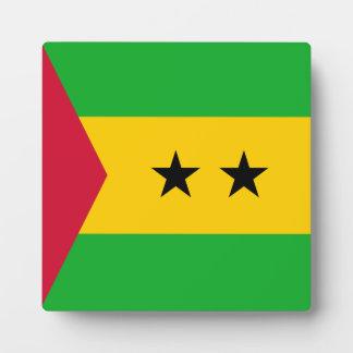 Sao Tome and Principe Flag Plaque
