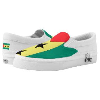 Sao Tome and Principe Flag -.png Slip-On Sneakers