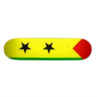 Sao Tome And Principe Flag Skateboard Deck