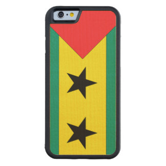 Sao Tome and Principe Flag Carved® Maple iPhone 6 Bumper