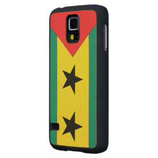 Sao Tome and Principe Flag Carved® Maple Galaxy S5 Slim Case