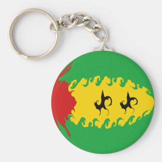Sao Tome and Principe Gnarly Flag Keychain