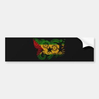 Sao Tome And Principe textured flower Bumper Sticker