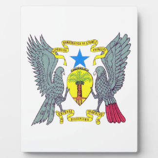 Sao Tome Principe Coat of Arms Photo Plaque