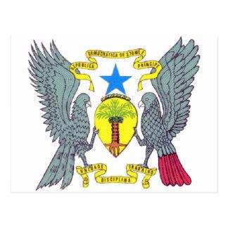 Sao Tome Principe Coat of Arms Postcard