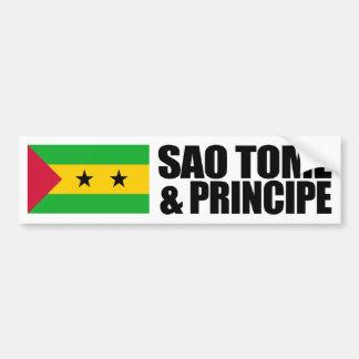 Sao Tome & Principe Flag Bumper Sticker