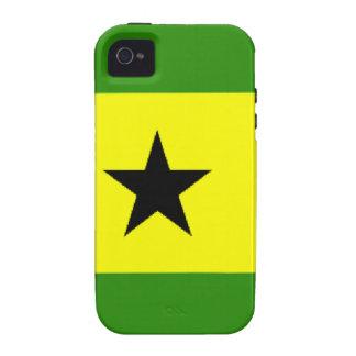 Sao Tome Principe Flag Case-Mate iPhone 4 Covers