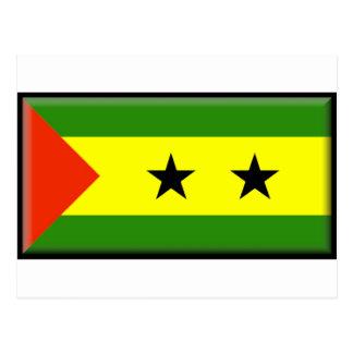 Sao Tome Principe Flag Postcard