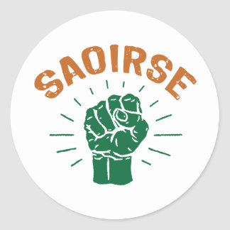 Saoirse Classic Round Sticker