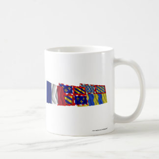 Saône-et-Loire, Bourgogne & France flags Coffee Mug