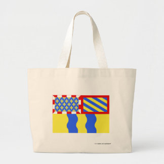 Saône-et-Loire flag Canvas Bags