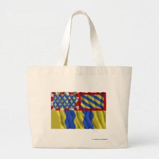 Saône-et-Loire waving flag Bags