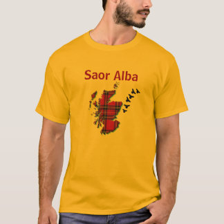 Saor Alba Free Scotland Gaelic Flying Bird T-shirt