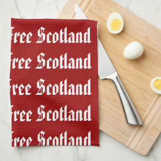 Saor Alba Free Scotland Gaelic Kitchen Towel