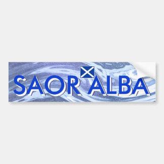 Saor Alba Free Scotland Ocean Bumper Sticker