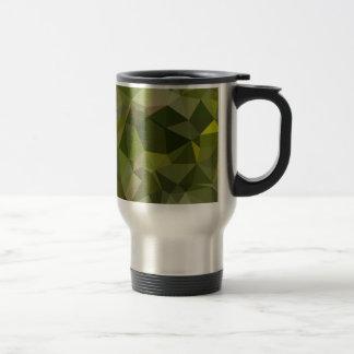 Sap Green Abstract Low Polygon Background Travel Mug