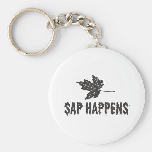 Sap Happens Basic Round Button Keychain
