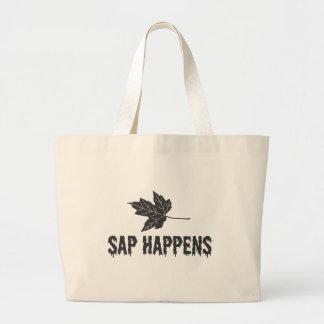 Sap Happens Large Tote Bag