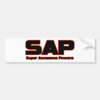 SAP - poderes impresionantes estupendos Pegatina De Parachoque