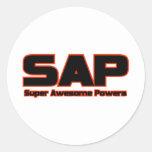 SAP - poderes impresionantes estupendos Pegatina Redonda