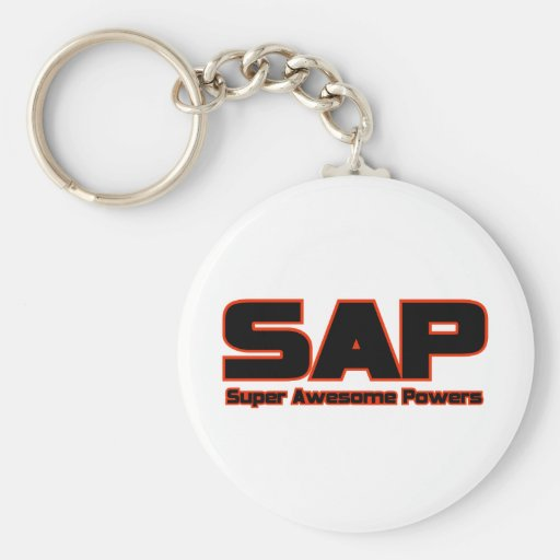 SAP - Super Awesome Powers Basic Round Button Keychain