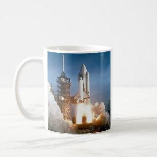 Sapce Shuttle Launch Classic White Coffee Mug
