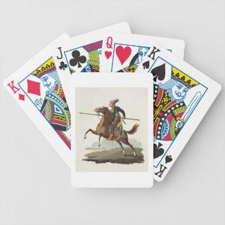 """Saphir, de los """"trajes de las diversas naciones"""",  cartas de juego"""